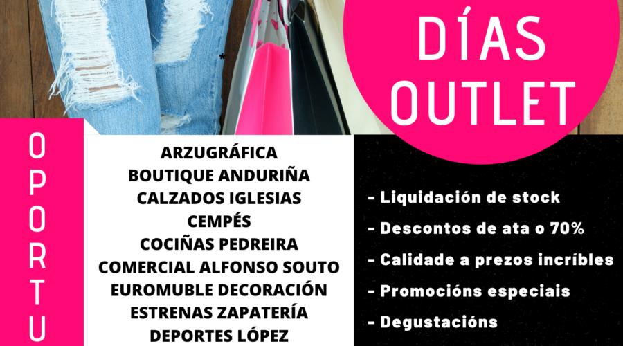 O CCA DE ARZÚA SORTEA 1.000€ EN PREMIOS NAS MERCAS DOS DÍAS OUTLET