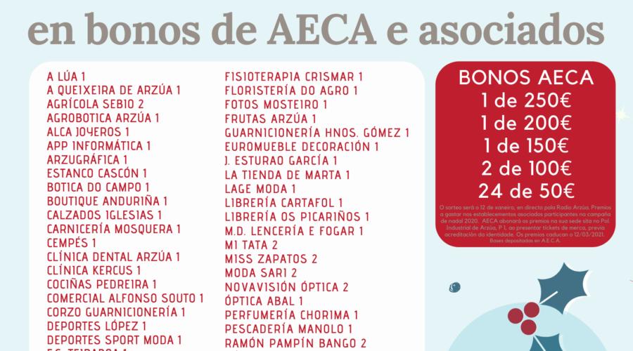 Este Nadal AECA e asociados sortean 4.700€ en bonos