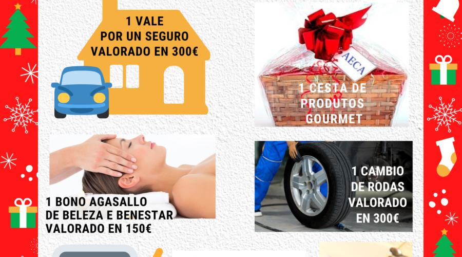 Empresarios da comarca de Arzúa reparten entre os seus clientes 13 extraordinarios premios coas rifas de Nadal da AECA