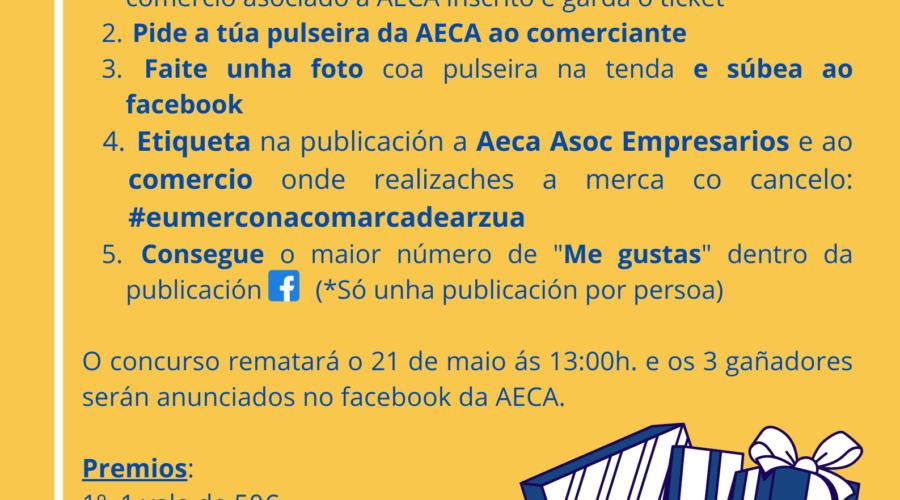 AECA CONVOCA O CONCURSO #eumerconacomarcadeArzua   A TRAVÉS DO FACEBOOK